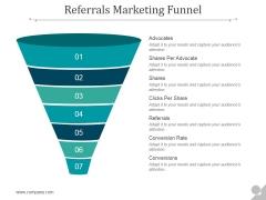 Referrals Marketing Funnel Ppt PowerPoint Presentation Show