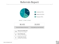 Referrals Report Ppt PowerPoint Presentation Shapes