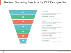 Referrral Marketing Benchmarks Ppt Example File