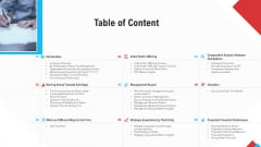 Reform Endgame Table Of Content Themes PDF