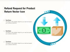 Refund Request For Product Return Vector Icon Ppt PowerPoint Presentation File Sample PDF