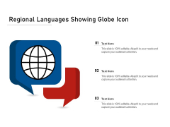 Regional Languages Showing Globe Icon Ppt PowerPoint Presentation File Format PDF