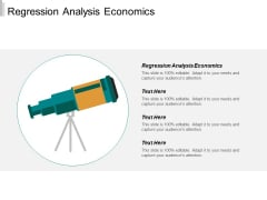 Regression Analysis Economics Ppt PowerPoint Presentation Ideas Inspiration Cpb