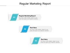 Regular Marketing Report Ppt PowerPoint Presentation Icon Smartart Cpb