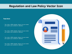 Regulation And Law Policy Vector Icon Ppt PowerPoint Presentation Infographics Display PDF