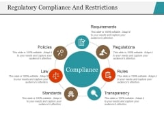 Regulatory Compliance And Restrictions Ppt PowerPoint Presentation Professional Information