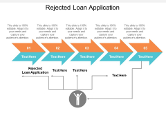 Rejected Loan Application Ppt PowerPoint Presentation Infographics Graphics Tutorials Cpb