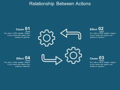Relationship Between Actions Ppt Powerpoint Presentation Show Slide Portrait