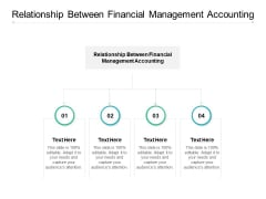 Relationship Between Financial Management Accounting Ppt PowerPoint Presentation Ideas Icons Cpb