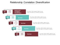 Relationship Correlation Diversification Ppt PowerPoint Presentation Infographic Template Design Inspiration Cpb Pdf