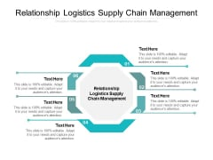 Relationship Logistics Supply Chain Management Ppt PowerPoint Presentation Portfolio Shapes Cpb