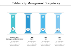 Relationship Management Competency Ppt PowerPoint Presentation Ideas Icons Cpb
