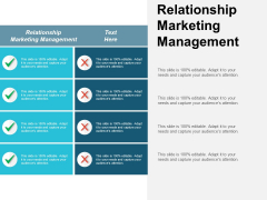 Relationship Marketing Management Ppt PowerPoint Presentation Summary Clipart Images