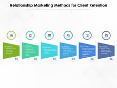 Relationship Marketing Methods For Client Retention Ppt PowerPoint Presentation Gallery Format Ideas PDF