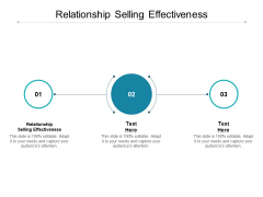 Relationship Selling Effectiveness Ppt PowerPoint Presentation Portfolio Graphics Template Cpb