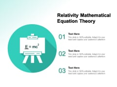 Relativity Mathematical Equation Theory Ppt PowerPoint Presentation Slides Grid PDF