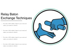 Relay Baton Exchange Techniques Ppt PowerPoint Presentation Gallery Example Introduction PDF