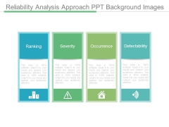 Reliability Analysis Approach Ppt Background Images