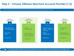 Relocation Of Business Process Offshoring Step 3 Choose Offshore Merchant Account Provider Professional PDF