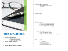 Relocation Of Business Process Offshoring Table Of Contents Ppt File Samples PDF