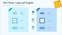 Remarketing Strategies For Effective Brand Placement New Name Logo And Tagline Ppt Gallery Professional PDF