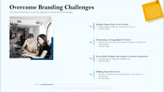 Remarketing Strategies For Effective Brand Placement Overcome Branding Challenges Ppt Outline Maker PDF