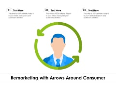 Remarketing With Arrows Around Consumer Ppt PowerPoint Presentation Gallery Visuals PDF
