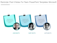 Reminder Post It Notes For Team Powerpoint Templates Microsoft