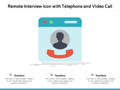 Remote Interview On Video Call Vector Icon Ppt PowerPoint Presentation Professional Graphics PDF