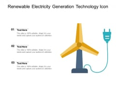 Renewable Electricity Generation Technology Icon Ppt PowerPoint Presentation File Designs PDF
