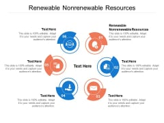 Renewable Nonrenewable Resources Ppt PowerPoint Presentation File Vector Cpb