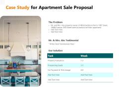 Rent Condominium Case Study For Apartment Sale Proposal Ppt Professional Graphics Tutorials PDF