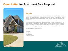 Rent Condominium Cover Letter For Apartment Sale Proposal Ppt Ideas Icons PDF