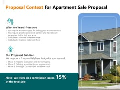 Rent Condominium Proposal Context For Apartment Sale Proposal Ppt File Slideshow PDF
