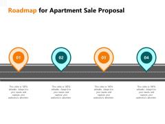 Rent Condominium Roadmap For Apartment Sale Proposal Ppt Portfolio