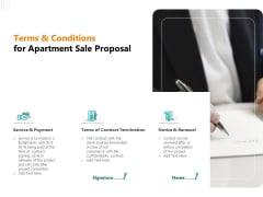 Rent Condominium Terms And Conditions For Apartment Sale Proposal Demonstration PDF