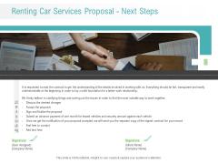 Renting Car Services Proposal Next Steps Ppt Infographics Design Ideas PDF