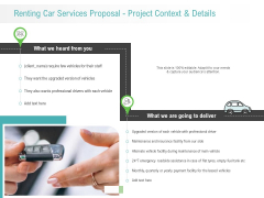 Renting Car Services Proposal Project Context And Details Structure PDF