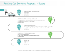 Renting Car Services Proposal Scope Ppt Professional Information PDF