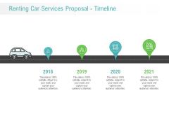 Renting Car Services Proposal Timeline Ppt Outline Information PDF