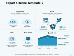 Report And Refine Template Social Ppt PowerPoint Presentation Portfolio Files