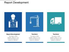 Report Development Ppt PowerPoint Presentation Ideas Elements Cpb