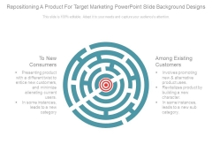 Repositioning A Product For Target Marketing Powerpoint Slide Background Designs