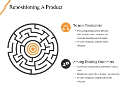 Repositioning A Product Ppt PowerPoint Presentation Infographics Elements