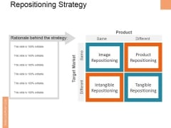 Repositioning Strategy Ppt PowerPoint Presentation Gallery Inspiration