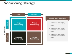 Repositioning Strategy Ppt PowerPoint Presentation Infographic Template Structure