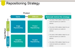 Repositioning Strategy Ppt PowerPoint Presentation Outline Graphic Tips