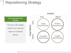 Repositioning Strategy Ppt PowerPoint Presentation Summary Slide Portrait