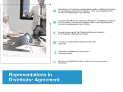 Representations In Distributor Agreement Ppt PowerPoint Presentation File Structure
