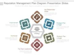 Reputation Management Plan Diagram Presentation Slides